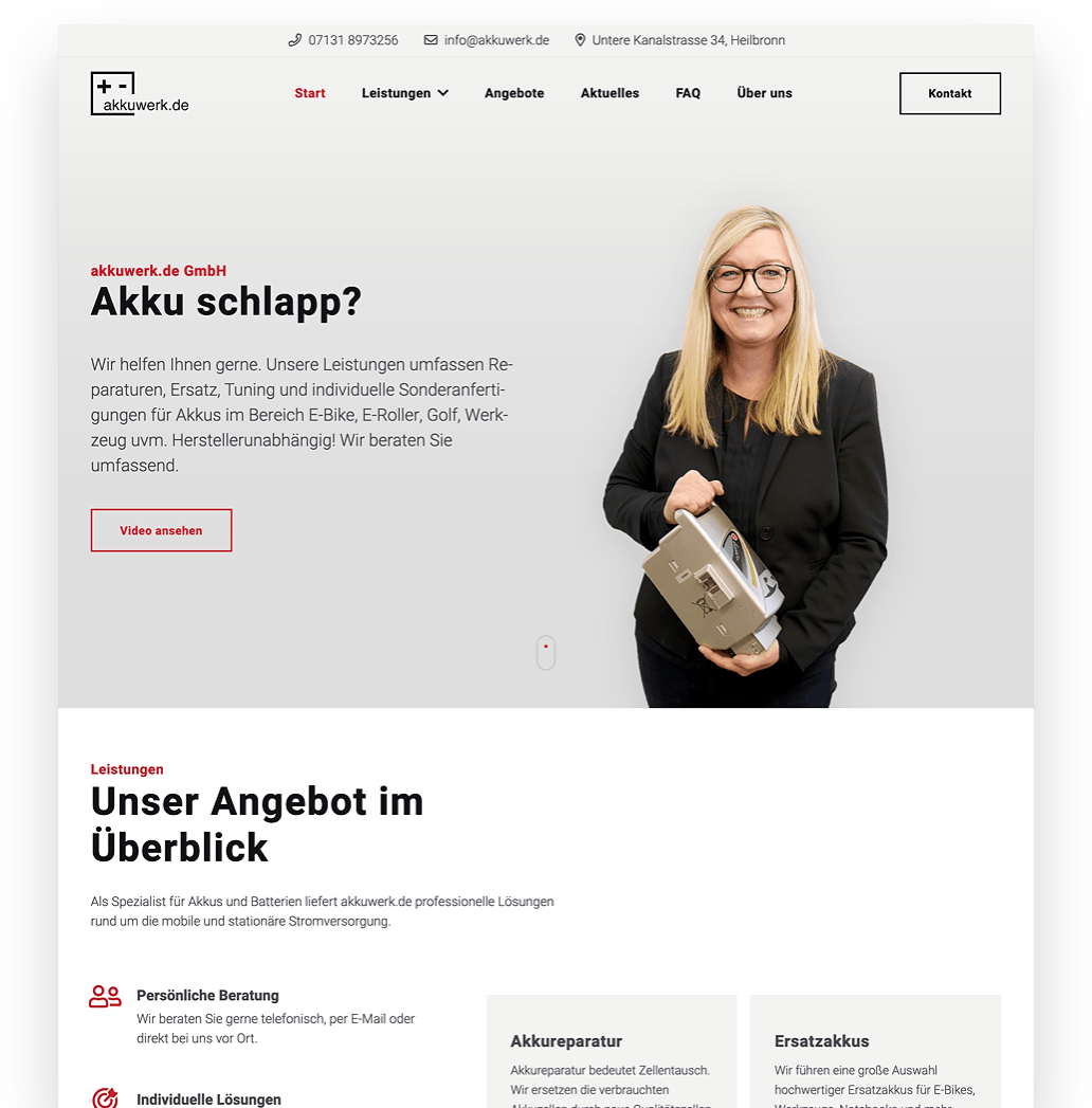 akkuwerk.de Website